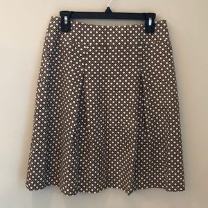 Talbots fit & flare lined pleated skirt size 0.